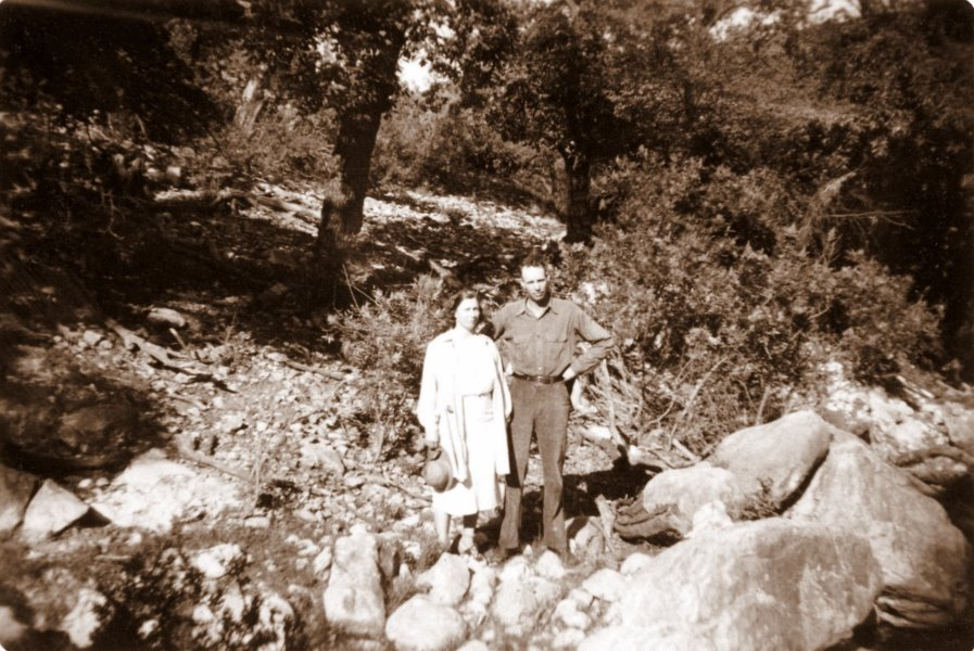 Cleo and Herman at Sitting Bull Lake, August 1939