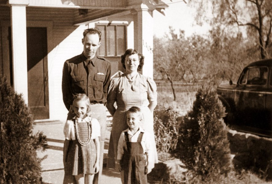 Herman, Cleo, Frances and Fred in Sweetwater, TX, 1941