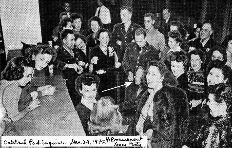 Rudi at the piano at a Procurement Xmas Party, December 29, 1942