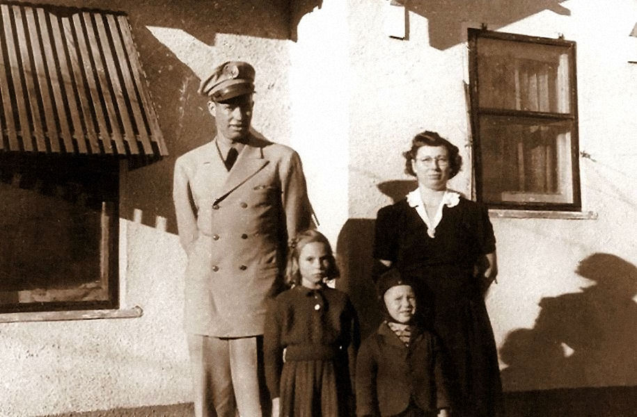 Herman, Frances, Fred, and Cleo, January 1, 1944