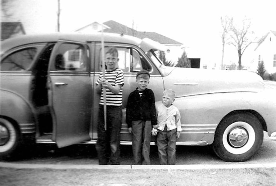 Fred, Kenny, and Steve in Artesia, 1949