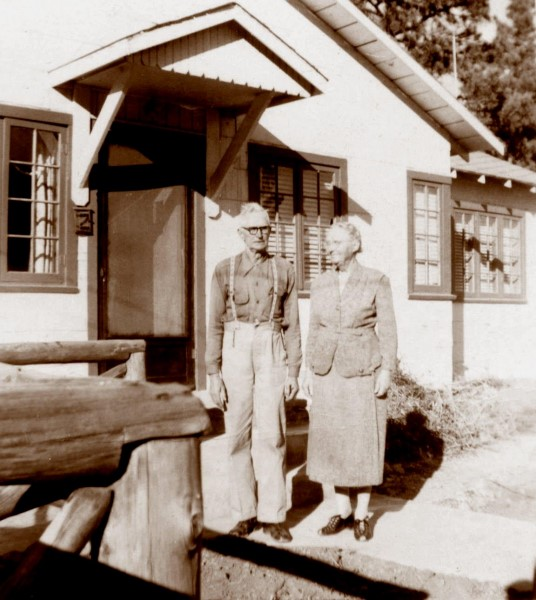 In front of the Ruidoso house, 1951