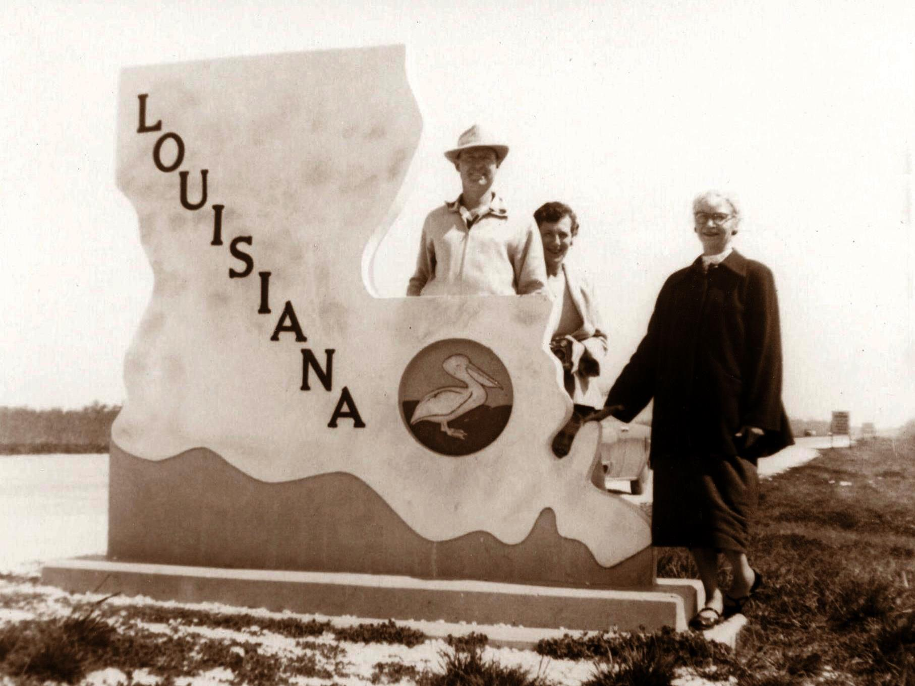 On the LA State line, March 1956