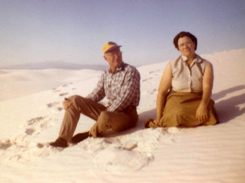1958 George and Mildred at White Sands