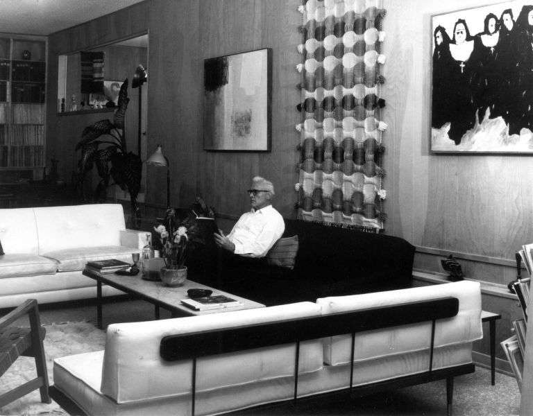 Rudi in his living room, 1966