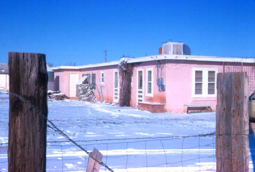 Ernest and Carolina's house on Curry Lane in Abilene, January 29, 1966