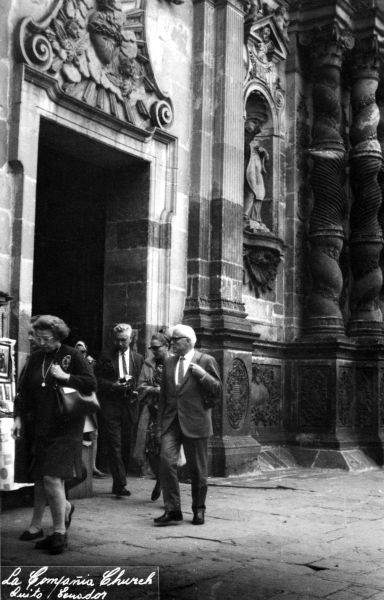 Rudi at a church in Quito, Ecuador, September 1968