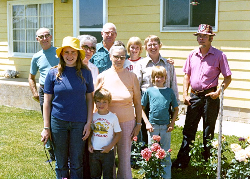 1975-07 George and Mildred with A.J. and  family in Durango