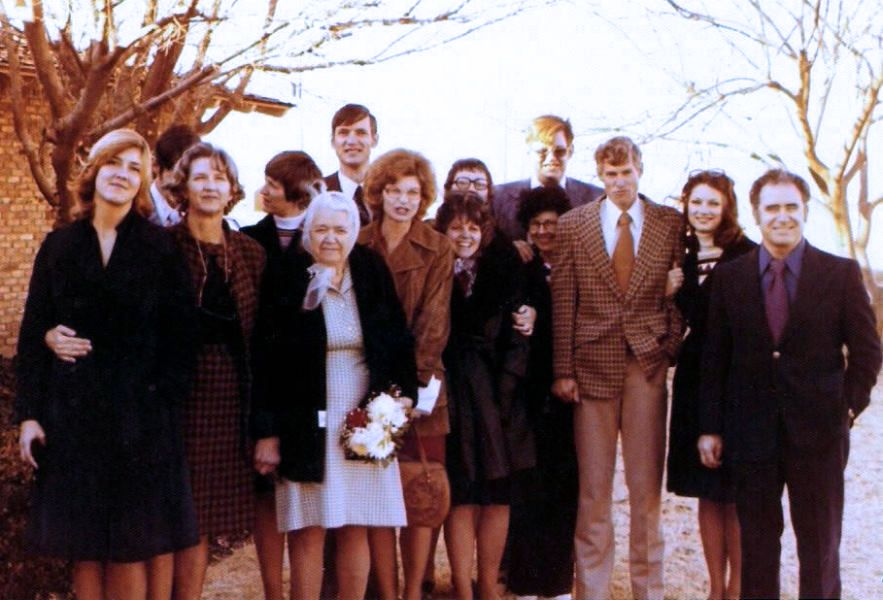 Ewald's family at his funeral December 15, 1976