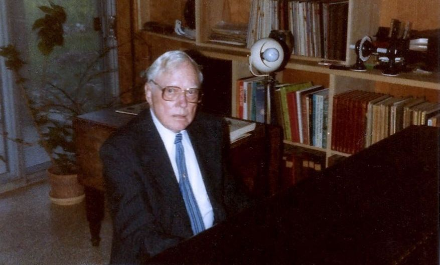 Rudi at his piano, 1985
