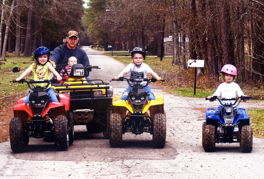 2004 4 4-wheelers and Grandpa