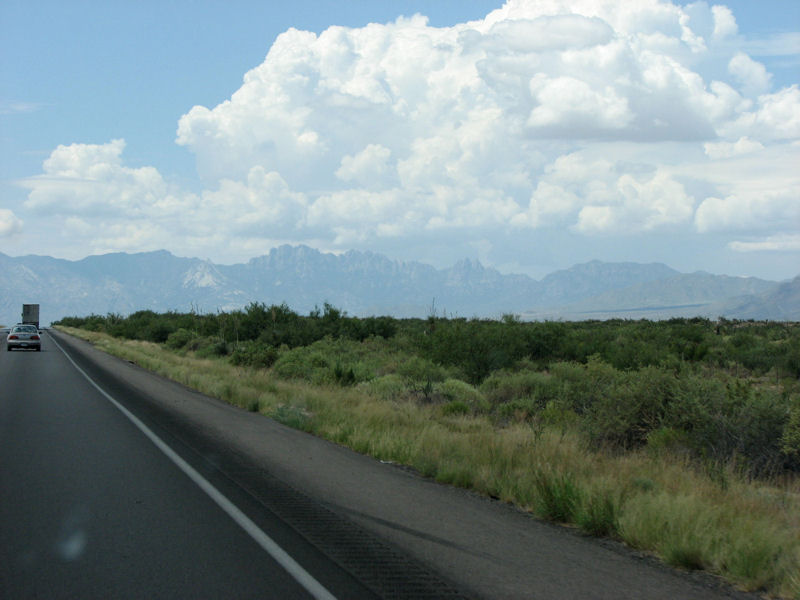 The scenic Organ Mountains just east of Las Cruces