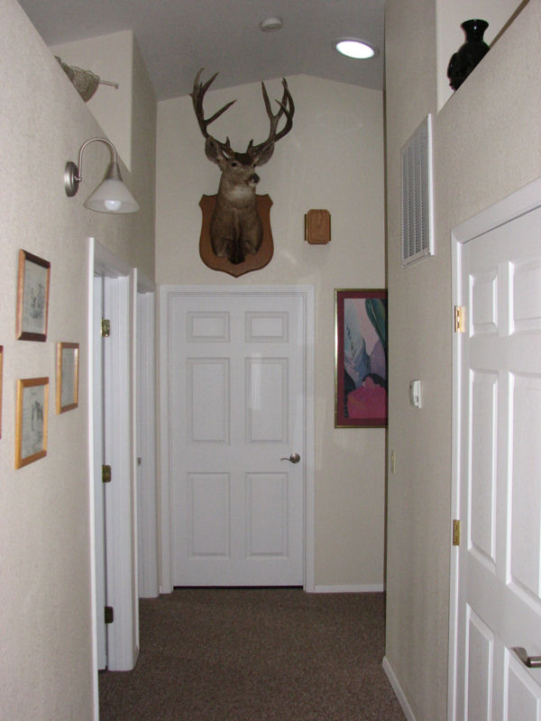A.J. and Betty's extra-wide hallway