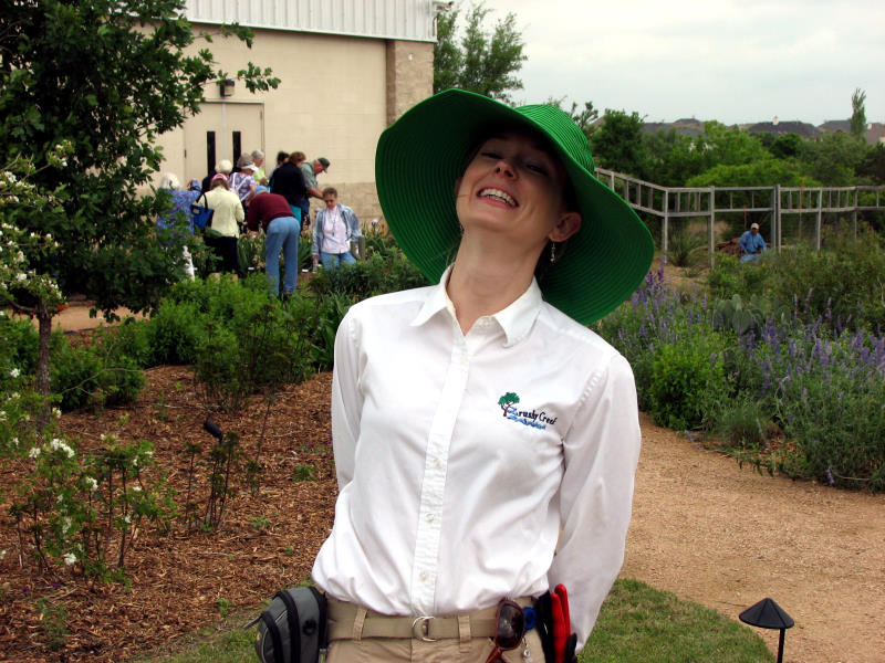 Horticulturist Rachel Hagan at the Brushy Creek Community Garden Center Garden in Round Rock