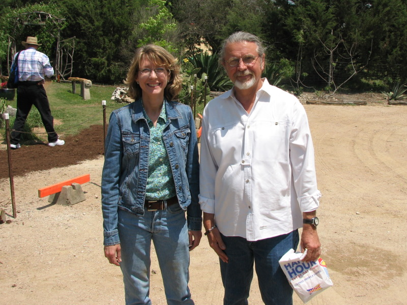 Lyda Guz and John Dromgoole at The Natural Gardener