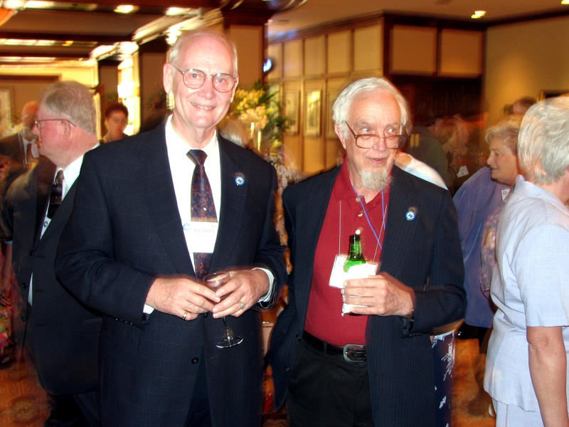 Karel Danford, 2008 Convention Treasurer, and John Burton