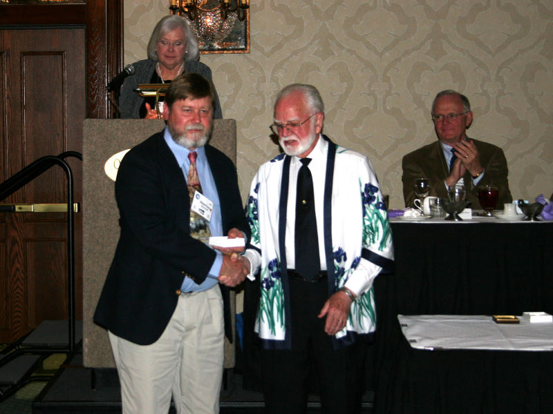 Rick Ernst is presented the John C. Wister Medal  for 'Ring Around Rosie.'  ( Photo by Alex Stanton)