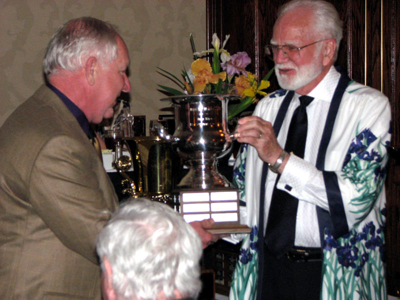 Paul Black accepts the Franklin Cook Memorial Cup.  (Photo by Larry Nunn)