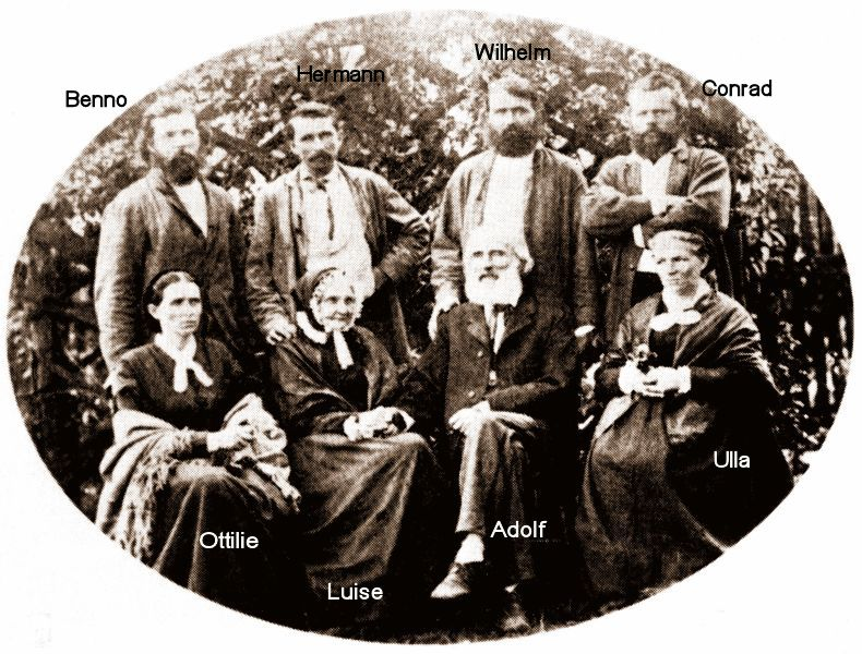The Adolf Fuchs family in 1875