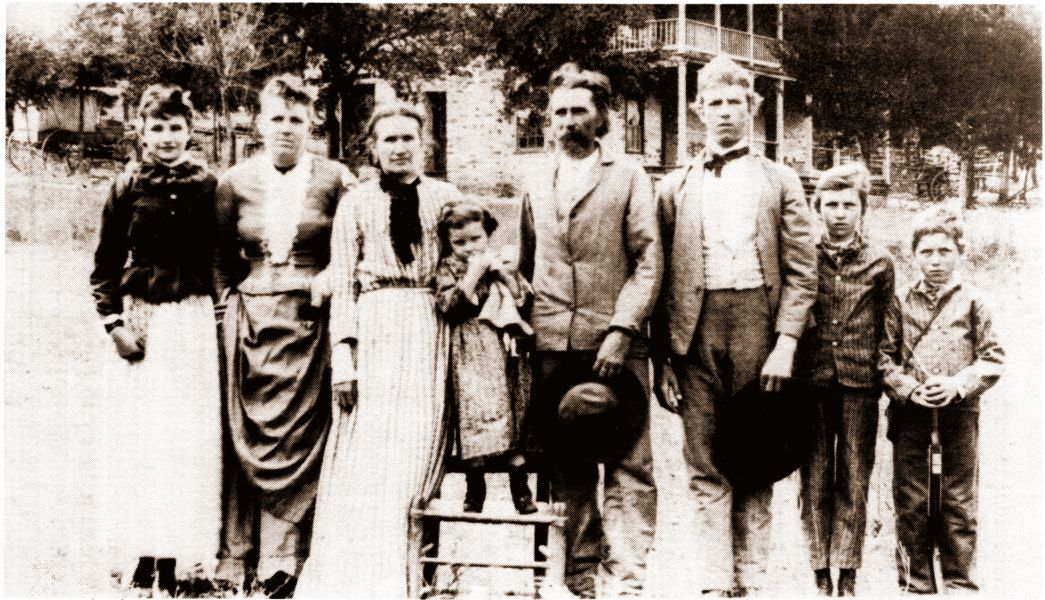 The Hermann T. Fuchs Family - Frieda, Marietta, Caroline, Johanna, Hermann, Walter, Albano, and Oscar